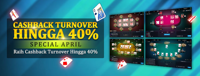 Cashback Turnover Hingga 40% Special April